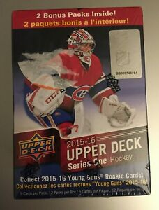 2015-16-UPPER-DECK-SERIES-1-NHL-HOCKEY-Retail-BLASTER-BOX-12-Packs-McDavid-RC