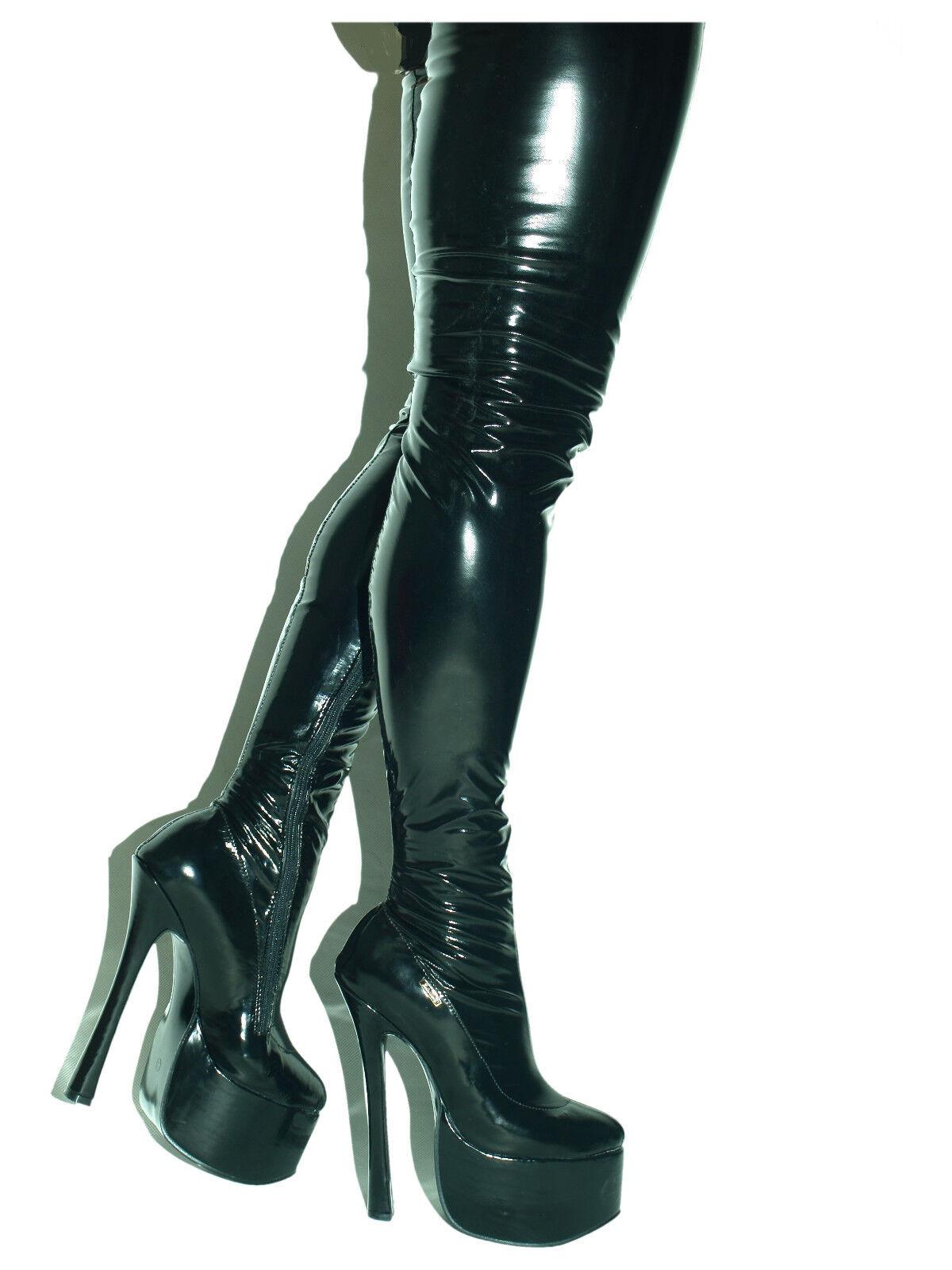 PROMOTIONS falta Poliuretano Tacones Altos botas   - 20cm producen Polonia