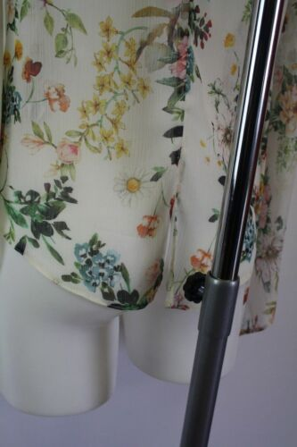 Ladies new ex new look floral chiffon blouse top size 10 12