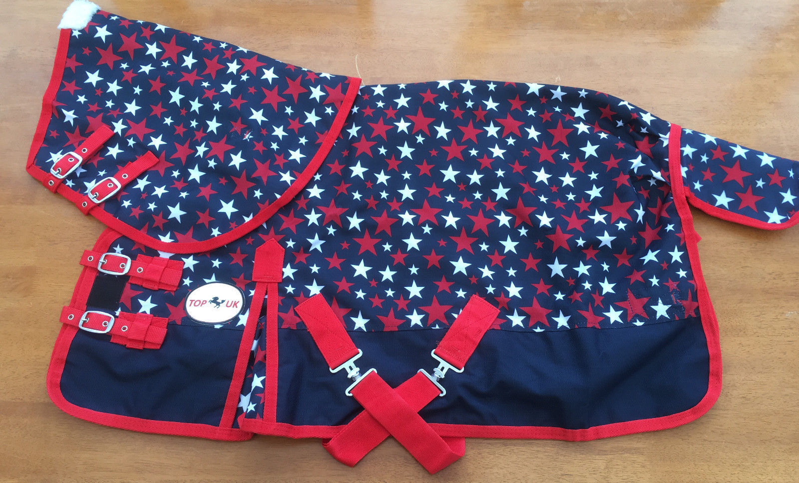1200D NO FILL Blau STAR TURNOUT RUG WITH NECK 4'6  TO 7'0
