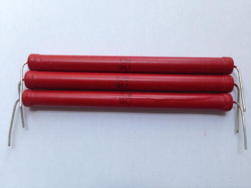 3x Haute tension résistance 20 Kv 1 Mohm 10 W Tension diviseurs High Voltage Resistor
