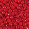 cuentas de rocalla de vidrio Opaco 4mm Rojo 20g (6/0)