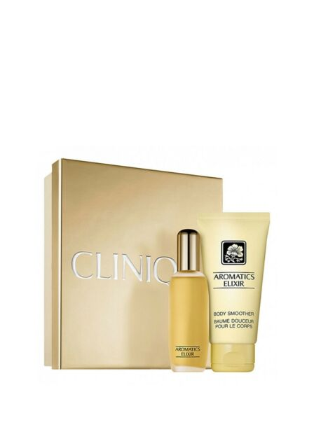 Clinique AROMATICS ELIXIR Gift Set, 25ml Perfume Spray + 75ml Body Smoother