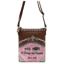 88cf2113f9 Embroidered Mark Bible Verse Cross Body Handbag Purse Women Single Shoulder  Bag
