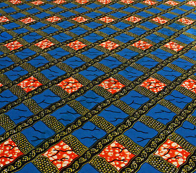 African Wax Print Superior Quality Cotton Fabric 4 Crafts /& Dresses  Per Yard