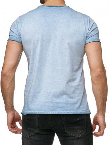 Redbridge T-Shirt Hommes Thé Loisirs Shirt Industry Oil Washed avec des trous Fresh