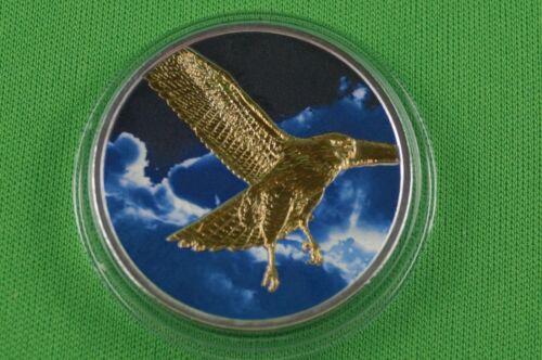 Coloured Night Sky Hawk Canada Maple Leaf With Gold 2015-1 oz