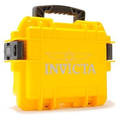 Invicta 3 Three Slot Yellow Impact Dive Collector Box Case DC3YEL