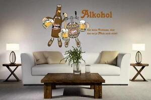 Wandtattoo Alkohol 105 X 60 Cm Ebay