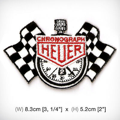 new HEUER EMBROIDERED PATCH IRON ON or SEW on clothes chronograph watch decorate