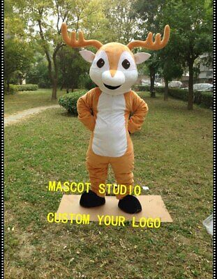 Christmas Deer Mascot Costume Adults size Deer Fancy Dress Bithday party game