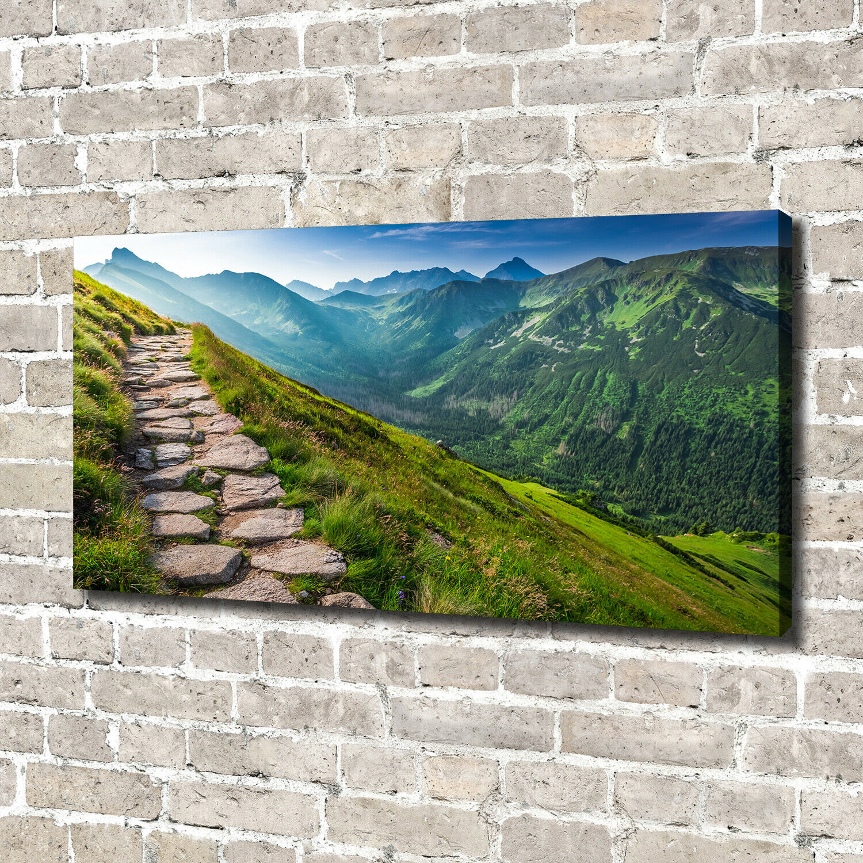 Leinwandbild Kunst-Druck 140x70 Bilder Landschaften Weg Gebirge Tatra