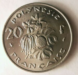 1975-FRENCH-POLYNESIA-20-FRANCS-Excellent-Coin-BARGAIN-BIN-172