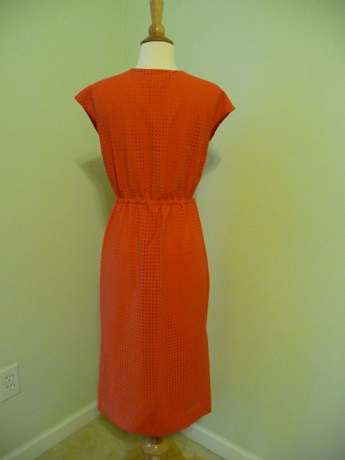 NEW J.CREW PERFORATED DRAPERY CREPE DRESS, SWEET PERSIMMON SZ SZ SZ 2, B9887,  158.00 cf7536