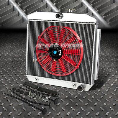 """3-ROW ALUMINUM RADIATOR+2X 7/"""" FAN BLUE+BLACK OIL COOLER FOR 66-77 BRONCO I6//V8"""