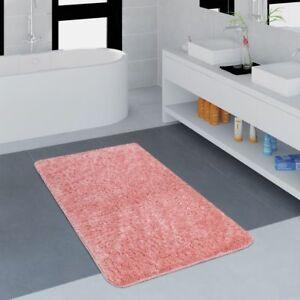 Tappeto-Bagno-Moderno-Monocolore-Microfibra-Soffice-Confortevole-Rosa