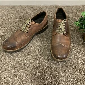 Bed-Stu-Beacon-Leather-Oxfords-Wingtip-Shoes-Mens-Size-11-5-Brown