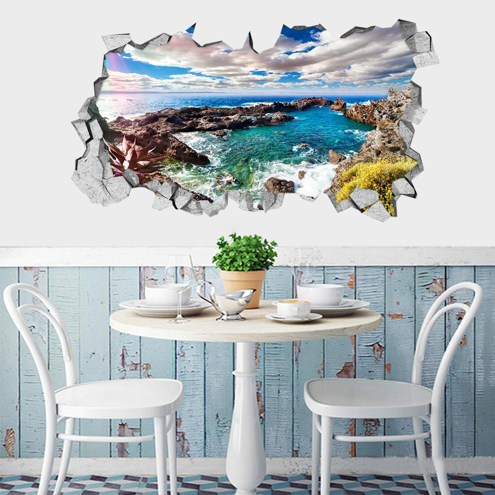 3D Wolken flüsse 57 Mauer Murals Aufklebe Decal Durchbruch AJ WALLPAPER DE Lemon