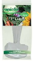 (12) Ea Luster Leaf 820 10 Packs 8 t Label White Plastic Plant Markers