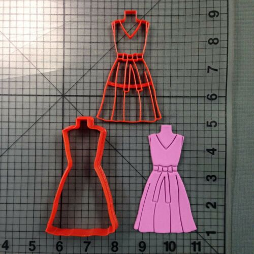 Dress 104 Cookie Cutter and Stamp