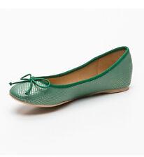 Marypaz para Mujeres y Chicas Aqua Green Puntera Redonda Bailarinas Zapatos Planos UK 6 BNWB
