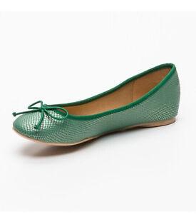 Bnib Flat Aqua Ballerinas Round Women Toe Marypaz Girls Shoes Uk Green 6 aPOB6qTx