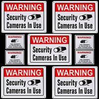 5 Metal Surveillance Security Spy Camera Warning Yard Signs+stickers