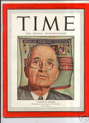 Magazine TIME  Harry S. Truman     NOVEMBER 6 1944