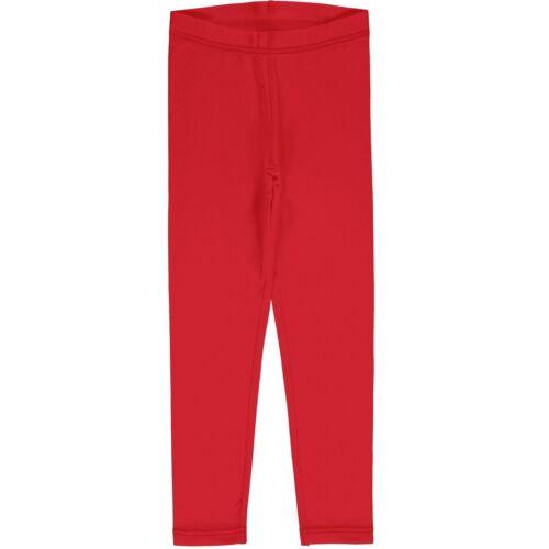 AW20 Maxomorra Solid Ruby Leggings Organic Cotton Scandi
