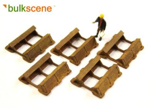 x5 OO GAUGE 1//76 WAGON LOADS BULKSCENE RUSTY WEATHERED COIL CRADLES NEW