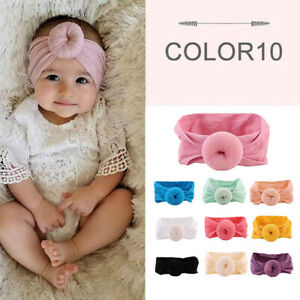 FT-AU-Girl-Kids-Baby-Nylon-Bow-Hairband-Headband-Stretch-Turban-Knot-Head-Wrap