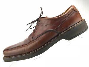 bfa25d2741f4 Ecco Oxford Casual Shoe - Dark Tanned Leather Square Toe Men s Sz 43 ...