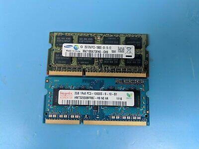 Samsung//Hynix DDR3 4gb 2Rx8 PC3-10600S laptop RAM Tested Working
