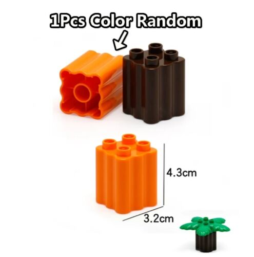 Compatible With NEW Lego DUPLO Farm Life Series Large Particles Grass Tree Brick