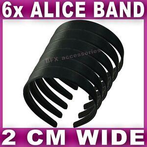 Satin ALICE BAND 2cm WIDE Headband Fabric Head Hair Band Aliceband 9 Colours UK