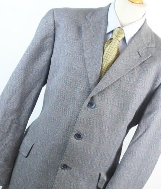 Austin Reed Mens Grey Check Suit Jacket 46 Chest Regular For Sale