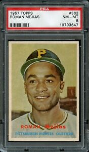1957-Topps-BB-Card-362-Roman-Mejias-Pittsburgh-Pirates-ROOKIE-PSA-NM-MT-8