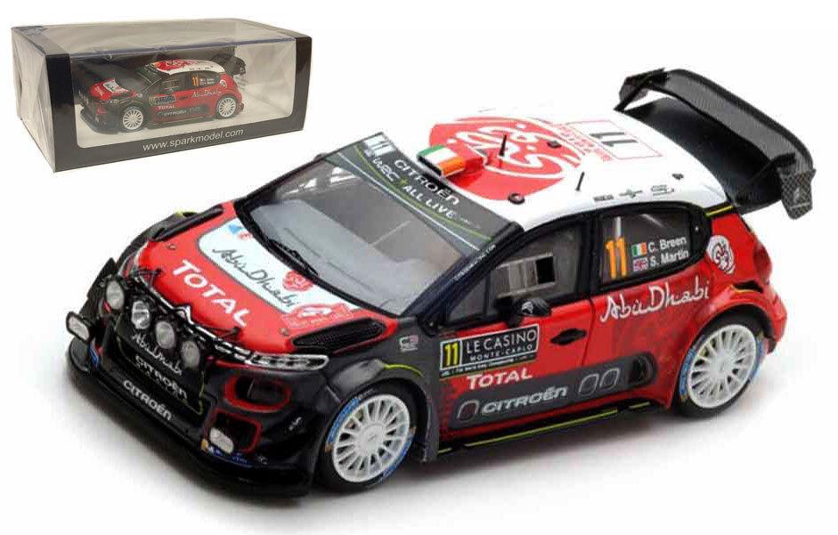 SPARK S5961 CITROEN C3 WRC  11 Monte Carlo 2018-Craig Breen SCALA 1/43
