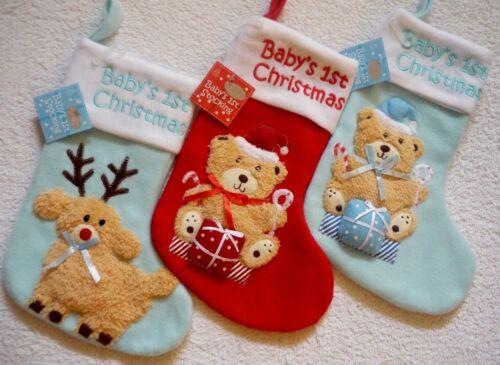 BNWT Super Cute Baby/'s 1st Christmas Stocking Boys Girls First Xmas