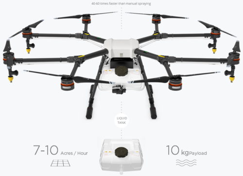 DJI-AGRAS-MG-1-Agricultural-pesticide-fertilizer-Spraying-drone-10KG-Mist-by-DHL