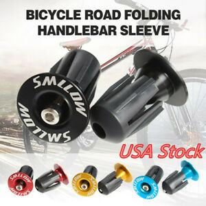 1 Pair Bike Bar Ends Aluminum 22-24mm Lock-on MTB Bicycle Handlebar End Plugs US