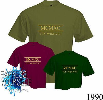 Gift T Shirt 30th BIRTHDAY Present NEW ROMAN NUMERALS 1989 Fun 2019