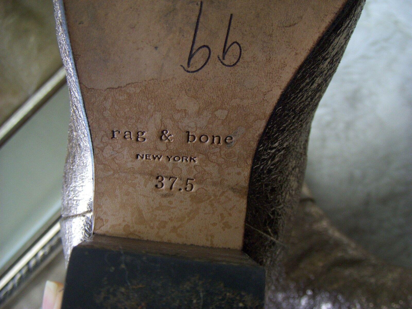 Rag & Bone Newbury Leather bottes bottes bottes démarrageies Taille 37.5 Wow 488840