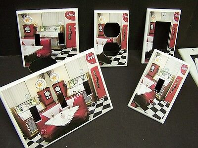 Retro 50 S Diner 1 Light Switch Or Outlet Cover Kitchen Decor Ebay