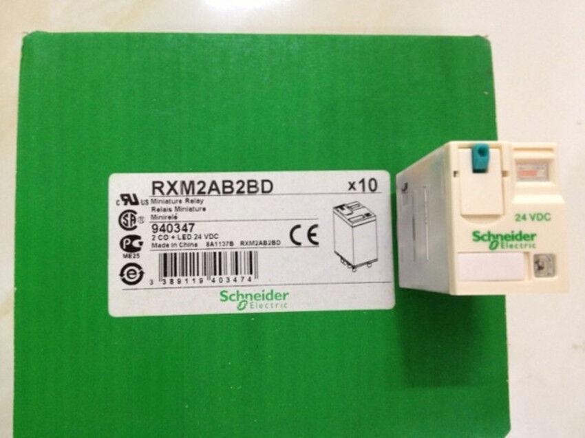 10PCS NEW Schneider Relay RXM2AB2BD 24VDC