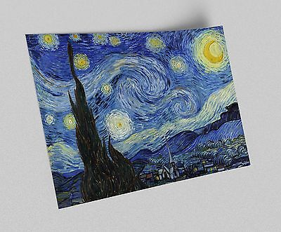 Starry Night Van Gogh Canvas Giclee ACEO Print