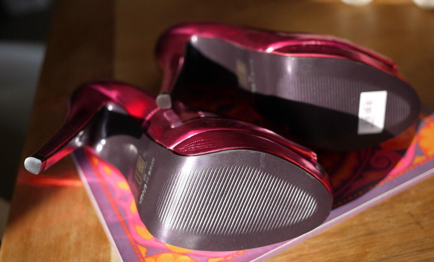 Carvela Plateau High Heels Pink Purple  Fuchsia Metallic Kurt Geiger  Purple 36 b02852
