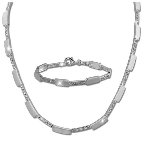 Silberdream Collier /& pulsera circonita señora schmuckset Sterling plata sds454w