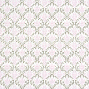 French Country Bella Shabby Cotton Home Decor Fabric White Pink Gray