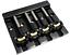 miniature 1 - Hipshot® KickAss Bass Bridge~4-String 5-Hole~Retrofits Badass Bass~Black~New
